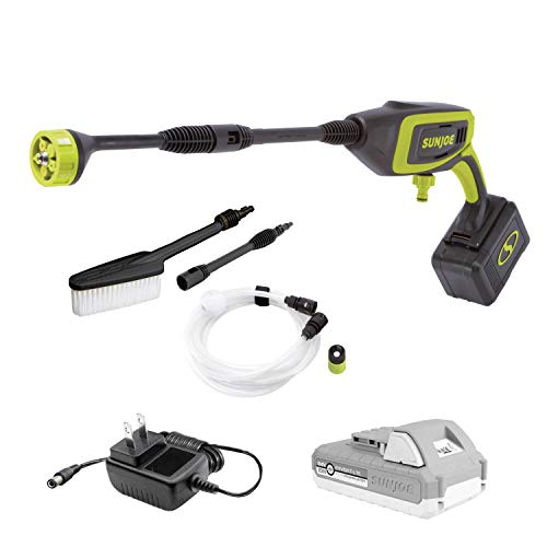 Sun Joe 24V-PP350-LTE 350-PSI 0.6-GPM Power Cleaner, Kit (w/ 2.0-Ah Battery and Charger)