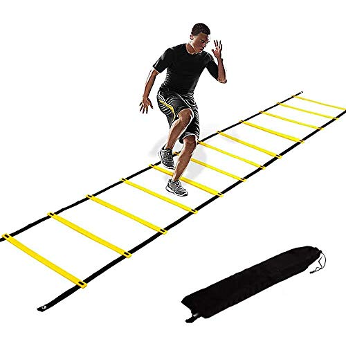 KIKILIVE Agility Ladder, Speed Agility Training Footwork Equipment 12 Rung with Carrying Bag for Sports Soccer, Football, Exercise Fitness
