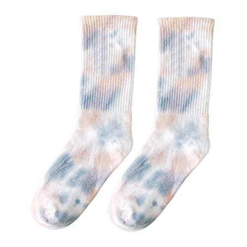 Holo Cute Unisex Tie Dye Baumwollsocken Street Trend Socken Lustiges Skateboard Radfahren Laufen Wandern Sportsocken