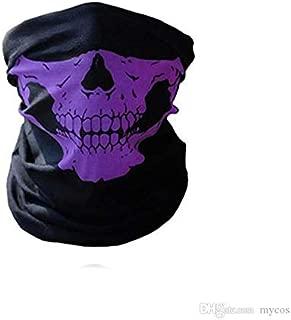 Acceptive Black Seamless Skull Face Tube Mask Pack (Purple)