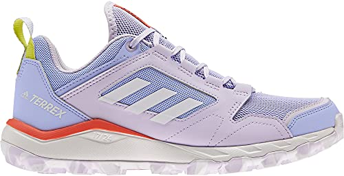adidas Terrex Agravic TR W, Zapatillas de Trail Running Mujer, TONVIO/FTWBLA/Rojsol, 40 EU