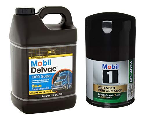 Mobil 1 Mobil Delvac 15W-40 Heavy Duty Diesel Oil,...
