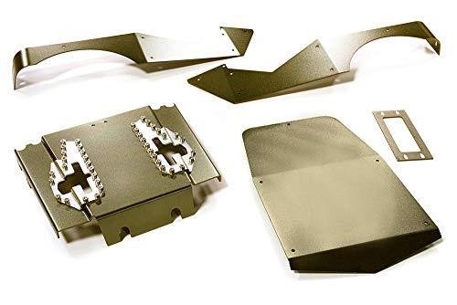 Integy RC Model Hop-ups C27672GUN Aluminum Alloy Body Panel Kit for Axial 1/10 Wraith 2.2 Rock Racer
