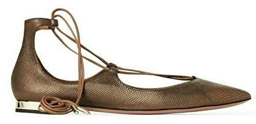 AQUAZZURA Christy Flat Lace-up Pointed-Toe Ballerinas Schuhe Shoe Flats 38.5