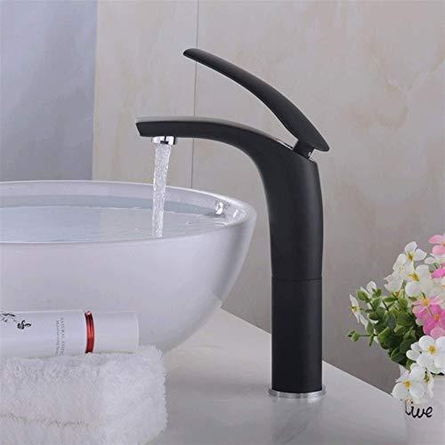 Faucet Faucet Lavabo de lavado en frío y caliente Grifo de lavabo de baño Grifo de lavabo de mostrador continental Grifo de lavabo sobre encimera Creativity Water-Tap Rojo (Tamaño: Alto-Negro)