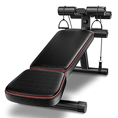 ACZZ Adjustable Benches Strength Training Equipment Home Exercise Machine Adult Abdominal Training Chair Sit-Ups Fitness Chair Man Woman Supine Board Strength Training Bench Gym Fitness Equipment from ACZZ