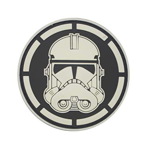 Cobra Tactical Solutions Head Stormtrooper Star Wars Schwarz Weiß Military PVC Patch mit Klettverschluss für Airsoft Paintball für Taktische Kleidung Rucksack