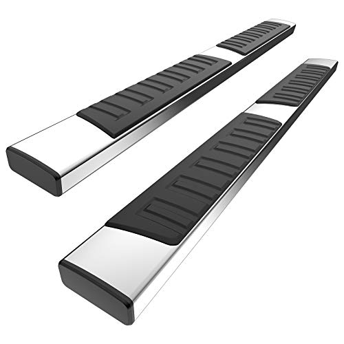 YITAMOTOR 6 inches Running Boards Compatible with 2015-2021 Ford F150 SuperCrew Cab, 2017-2021 Ford F250 F350 F450 F550 Super Duty Crew Cab Silver Side Step Nerf Bars