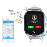 Kids Smart Watch Phone-GPS Tracker Waterproof Smart Wrist Watch with APP for Boys Girls SOS Camera 3G Sim Card Touch Screen Game Smartwatch Outdoor Activities Toys Children's Day Gift
