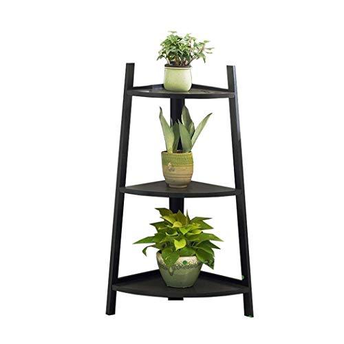 Bloemstandaard Plant Stand 3 Tier Hoek Vrijstaande Plant Stand Bamboe Houten Bloem Display Ladder Binnen Buiten Woonkamer Balkon Decoratie Display Plank