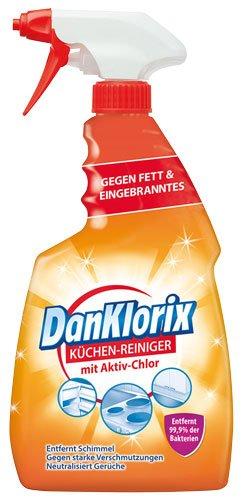 DanKlorix Küchen-Reiniger mit Aktiv-Chlor, Pumpe - 6X 750 ml