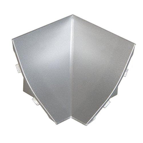 HOLZBRINK Rinconera interior: de PVC a juego con el copete de encimera aluminio satinado 23x23 mm