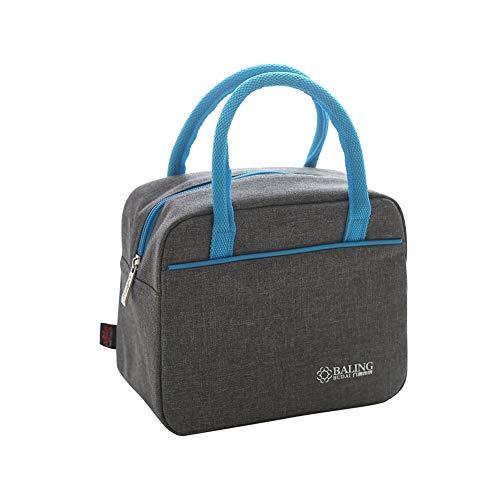 WWCB ZFBB Lunchbox voor dames, met verstelbare riem, stof, hoge dichtheid, waterdicht, picknick Cooler Tote Travel Organizer, blauw