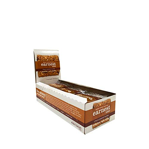 Earnest Eats Chewy Breakfast Bars with Whole Grain Oats and Almond Butter, Superfood, Vegan, 190mg Omega 3, Choco Peanut Butter, 1.9oz Bars, Pack of 12