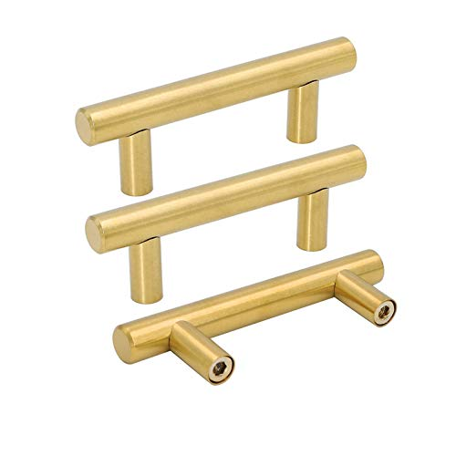 10 Pack Gold Drawer Pulls 2.5in