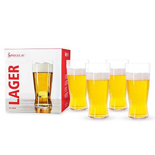 Spiegelau & Nachtmann, 4 teiliges Helles-Bier Glas-Set, Kristallglas, 560 ml, 4991971, Beer Classics
