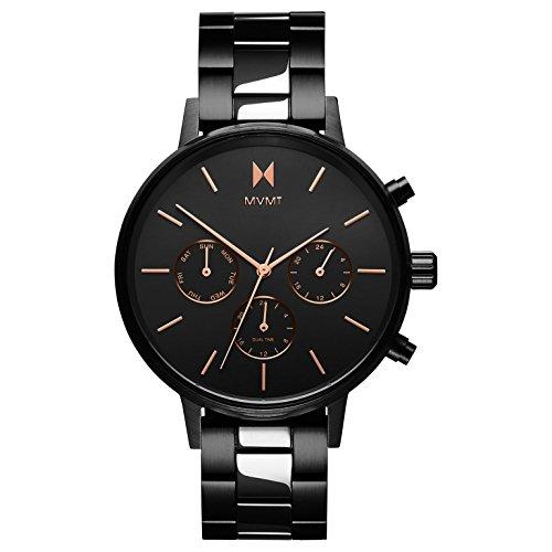 MVMT Damen Multi Zifferblatt Quarz Uhr mit Edelstahl Armband D-FC01-BL
