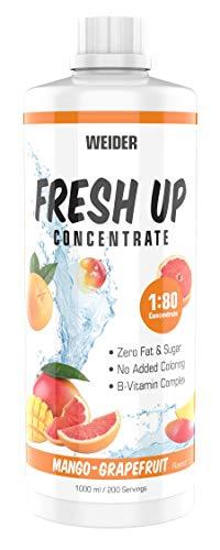 WEIDER Fresh Up Mango-Grapefruit Getränkekonzentrat , zuckerfrei & ohne Farbstoffe, mit Vitaminen, 1 Liter
