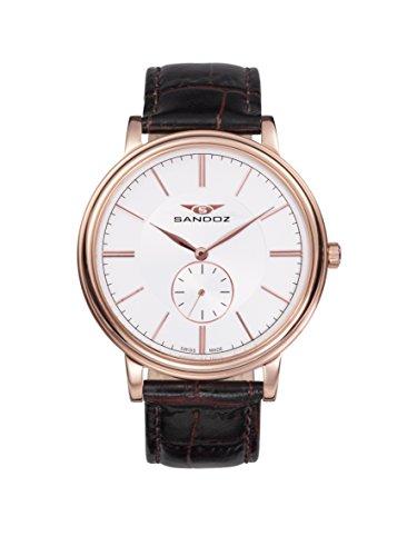 Sandoz 81385-87 - Reloj de Pulsera, Color marrón