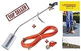 ROTHENBERGER Industrial Anwärm Brenner RoMaxi Eco inkl. 5m Propan Gas Schlauch & Druck regler, Unkraut Vernichter,...
