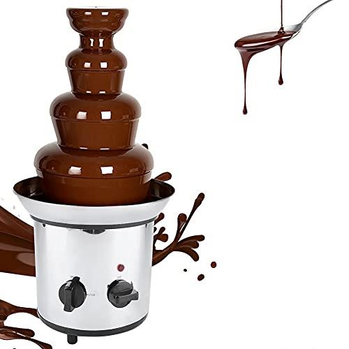 AYNEFY Chocolate Fondue Maker, 4 Tiers Stainless Steel Electric Chocolate...