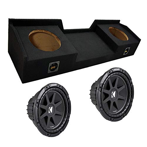 Compatible with Chevy Silverado 99-06 Extended Cab Truck Dual 10' Kicker C10 Subwoofer Sub Box Enclosure 600 Watts Peak