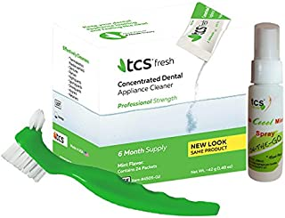 TCS Concentrated Dental Appliance Cleaner (6 month supply) + TCS Cool Mint Spray + TCS Dental Appliance Brush