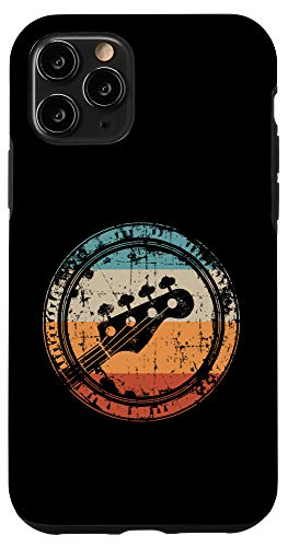 iPhone 11 Pro Vintage Bass Guitar Headstock for Bassist and Bass Player Case