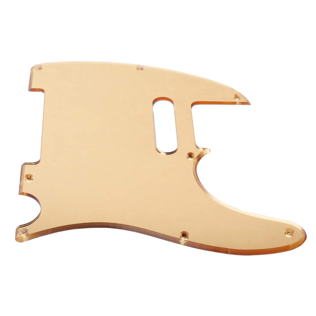 Guitar Parts Acrylic Gold NEW before selling ☆ Pickguard TL Plate Scratch for Very popular