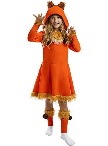 Funidelia | Disfraz de Zorro para nia Talla 5-6 aos Animales - Multicolor