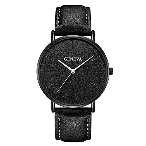 Clásico Reloj De Negocios De Cuero para Hombre Elegante Reloj De Baño Reloj De Negocios Reloj Analógico Simple para los Hombres (Color : G3)