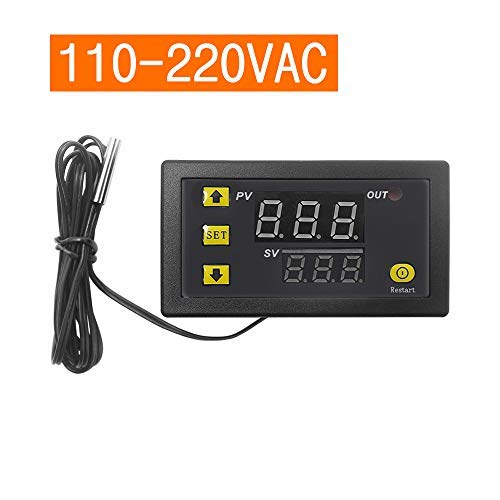 W3230 Mini controlador de temperatura digital Pantalla LED Regulador de termostato AC110V-220V 20A Interruptor de control de temperatura Sensor Medidor