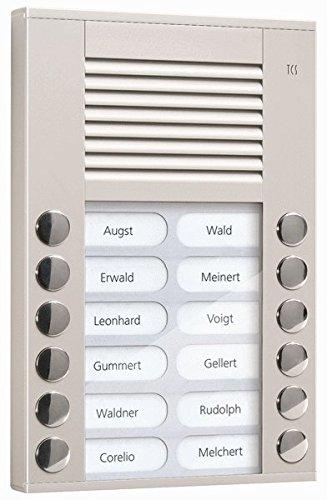TCS Tür Control Audioaußenstation 2-reihig PES12-EN/04