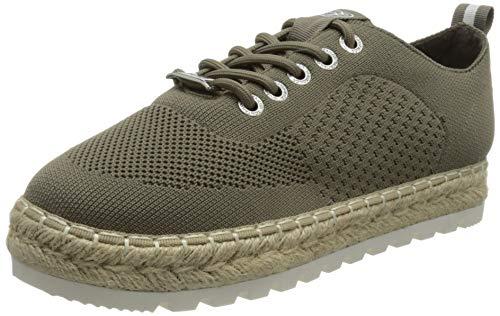 TOM TAILOR Damen 1196902 Sneaker, Khaki, 37 EU