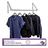wall mount retractable clothes drying rack