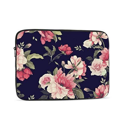 Mackbook Pro Case Pink Spring Beautiful Retro Peony MacBook Case Multi-Color & Size Choices10/12/13/15/17 Inch Computer Tablet Briefcase Carrying Bag