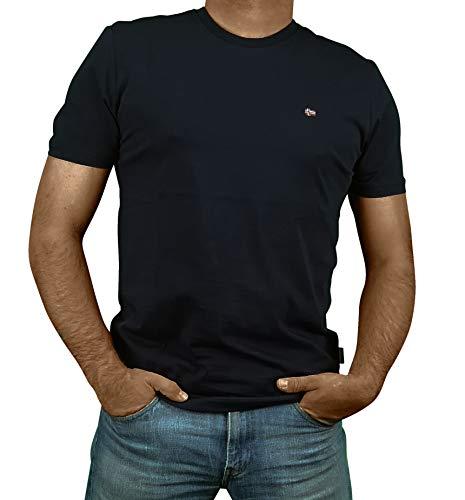 NAPAPIJRI T-Shirt Uomo Maglietta Manica Corta Girocollo Articolo NP0A4EW8 SALIS C SS, 176 Blu Marine, XXXL (3XL)