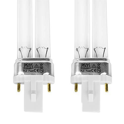 2x UV PLS 7W reservelamp voor UVC vijverfilter
