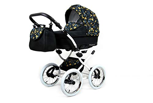 Kinderwagen 3in1 Retro Autositz Buggy Isofix Luftreifen Nostalgica by Saintbaby Gold Deer 2in1 ohne Babyschale