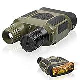 Binoculares de Visión Nocturna Binocular de Visión Nocturna por Infrarrojos para Adultos Gafas de Visión Nocturna Digital HD Oscuridad Total para Uso Diurno y Nocturno - con Tarjeta 32G (Verde)