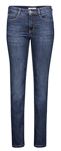 MAC JEANS Damen Straight Jeans ANGELA, Blau (Dark Blue D845), W40/L32