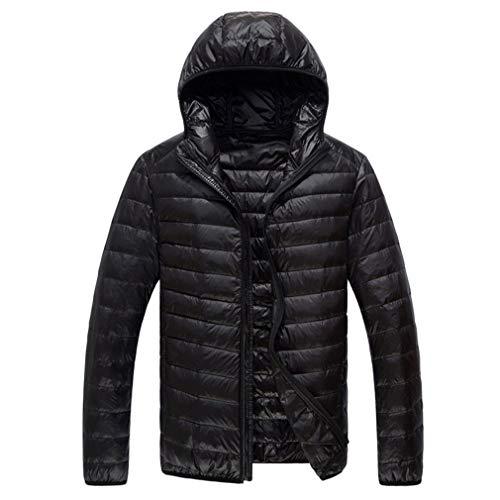 Heren Winterjassen Mode Capuchon Heren Casual Hoodies Jassen Man Comfortabele Casual Jas Jassen Zwart 3XL