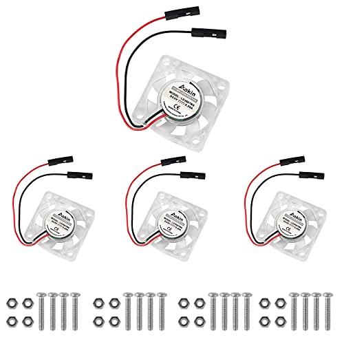 4 pcs Mini Cooling Fan for Raspberry Pi, MELIFE Brushless 3.3V 5V DC Quiet Fan 30x30x7mm Heatsink Cooler Fan for Raspberry Pi 4 Model B, 3 B+, Pi 3, Pi 2, Pi 1 B+, RetroFlag NESPI Case