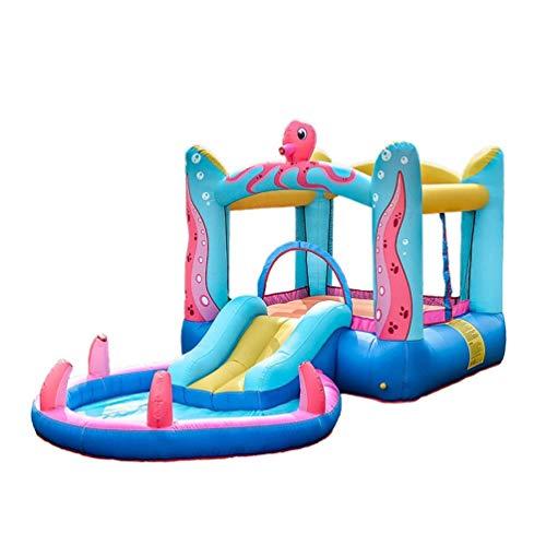 WRJY Castillo Hinchable para niños, Castillo Hinchable para niños, trampolín de Pulpo pequeño para Interiores, tobogán para niños, Juguete para el hogar