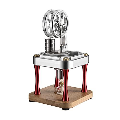 WYLX Mini Motor Stirling Refrigeración por Agua,Motor Stirling De Combustión Externa para Juguetes Educativos De Física,Escolar Enseñanza Niños Adultos