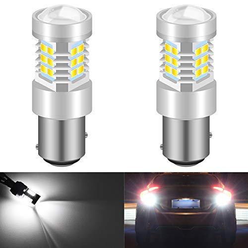 KaTur 1156 BA15S 1141 P21W 7056 High Power LED-lampen 2835 21 chips super helder met vervanging voor achteruitrijlichten DRL achteruitrijlichten achterlichten Xenon wit 1157 Wit.