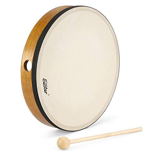 Eastar Rahmentrommel, Schamanentrommel Frame Drum Handtrommel 25cm/10 Zoll mit Drumstick
