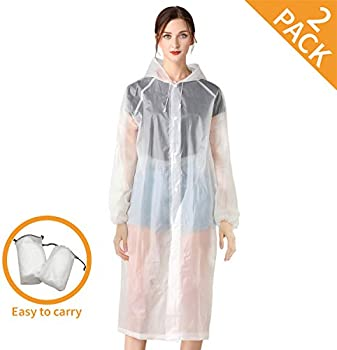 2-Pack Craftersmark Rain Ponchos for Adults