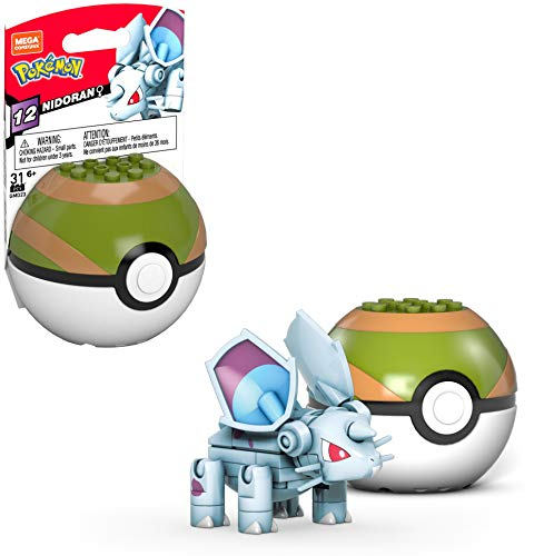 Mega Construx Pokemon Nidoran Figure Building Set with Poke Ball