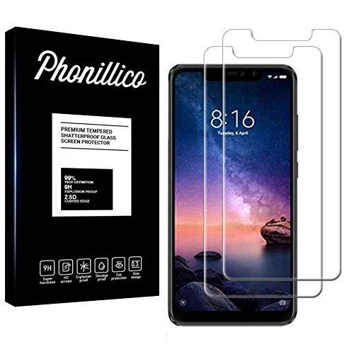 PHONILLICO [Pack de 2] Verre Trempé pour Xiaomi Redmi Note 6 Pro - Film Protection Ecran Verre Trempe Ultra Resistant [Lot de 2] Vitre Ecran Protecteur Anti Rayure